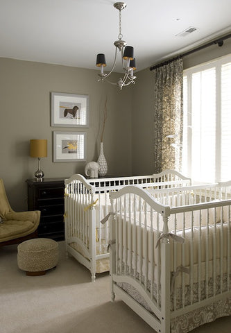 mini crib for twins