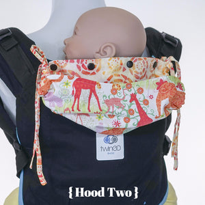 Custom Hood Set || Safari Fun - TwinGo Carrier - 5