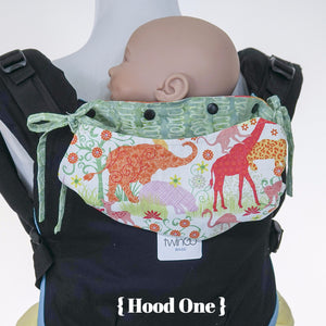 Custom Hood Set || Safari Fun - TwinGo Carrier - 3