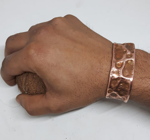 Hand Hammered Copper wrist Cuff - Awkward Turtle
