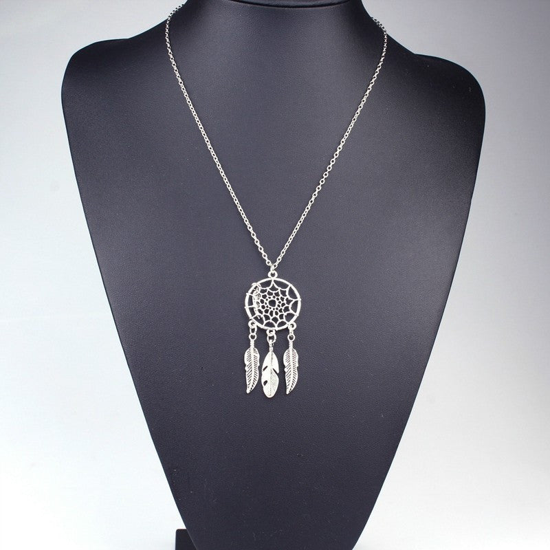 Dream Catcher Necklace Women Bohemia style - Awkward Turtle