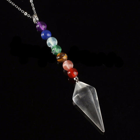 Healing Chakra Pendulum Necklace - Awkward Turtle