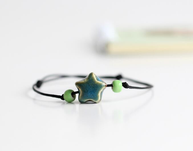 Ceramic Star Beaded Bracelet - Awkward Turtle