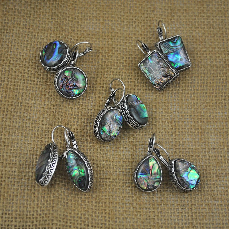 Antique Silver and Shell Earrings - 5 styles - Awkward Turtle