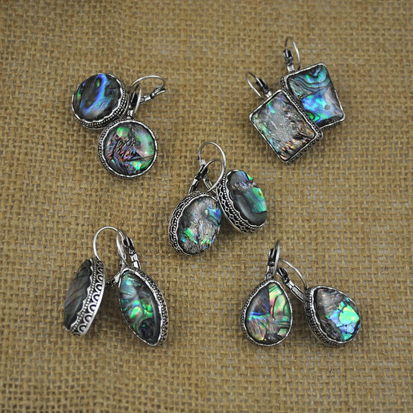 Antique Silver and Shell Earrings - 5 styles