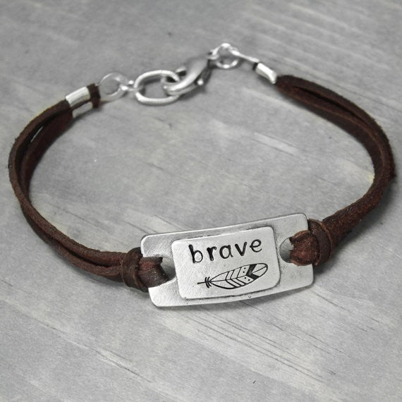 Be Brave Bracelet - Awkward Turtle