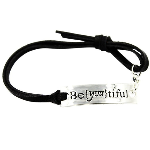 Inspirational Quote Leather Bracelets