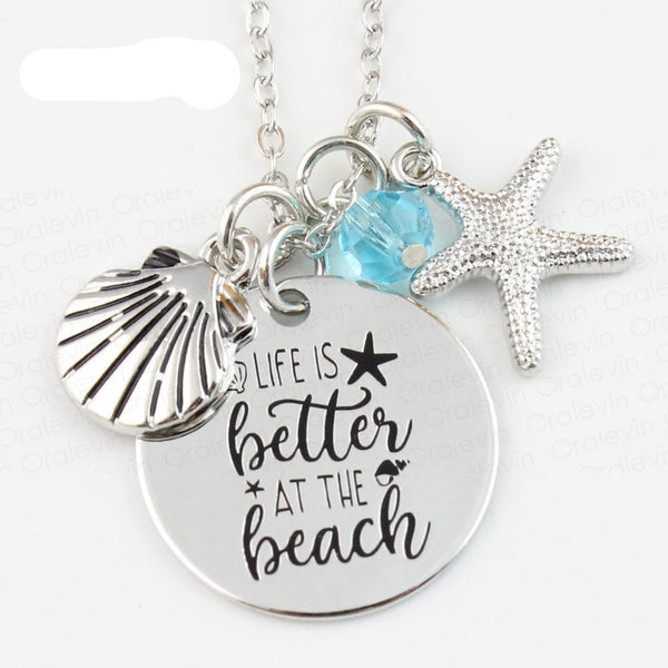 Life is Better at the Beach Necklace - Awkward Turtle