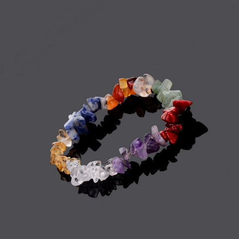 7 Chakra Healing Crystals and Natural Stone Chips - Reiki Bracelets - Awkward Turtle
