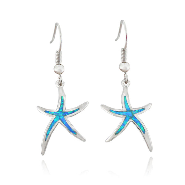 Dancing StarFish Fire Opal Earrings - While supplies last! - Awkward Turtle