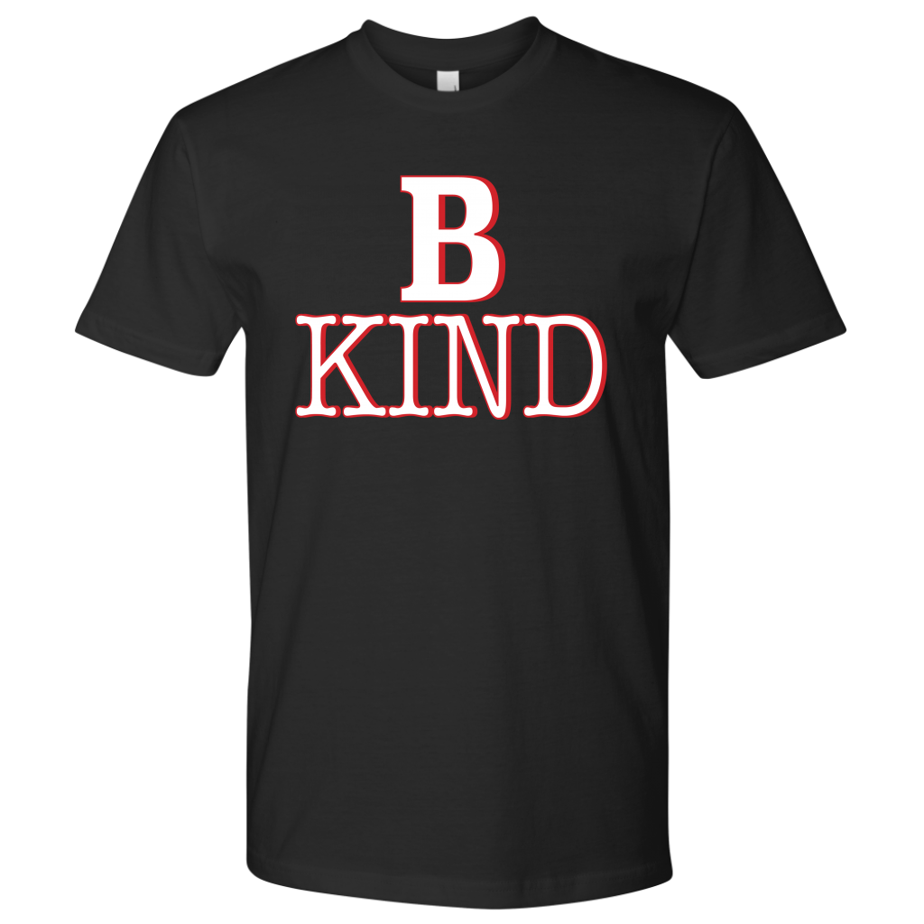 Imagine someone walking up to you in a mean spirited way, while you are wearing a B KIND t-shirt. This soft cotton shirt comes in many colors, and can act as a statement of your intentions to B Kind.  Fabric laundered, 4.3 oz., 100% combed ringspun cotton  Set-in 1x1 baby rib collar  Tear away label