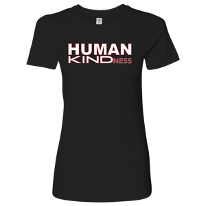 Couldn't we all use more HUMAN KINDNESS? This soft comfortable t-shirt is a reminder to all those who encounter it, that Kindness is a cherished value. Fabric laundered, 4.3 oz., 100% combed ringspun cotton Set-in 1x1 baby rib collar Tear away label  Fabric laundered, 4.3 oz., 100% combed ringspun cotton  Set-in 1x1 baby rib collar  Longer body length  Tear away label