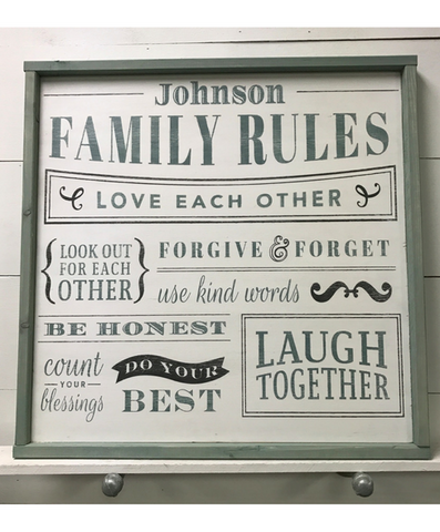 Family Rules (Shop Now ONLY)