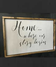 Home - Where Our Story Begins