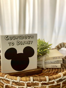 Disney Countdown | Tabletop Sign