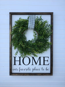 Home with Wreath