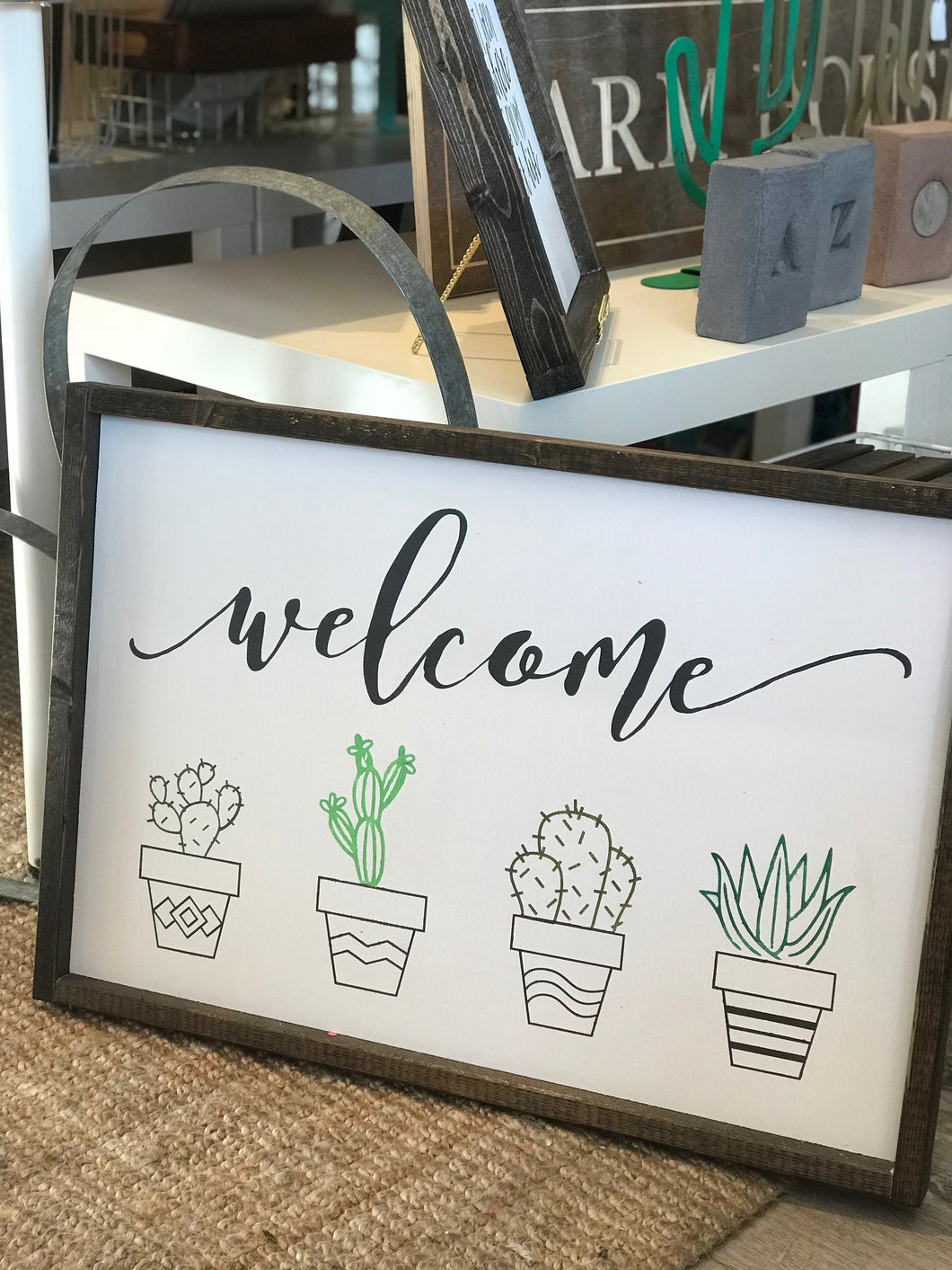 Welcome (with cacti)