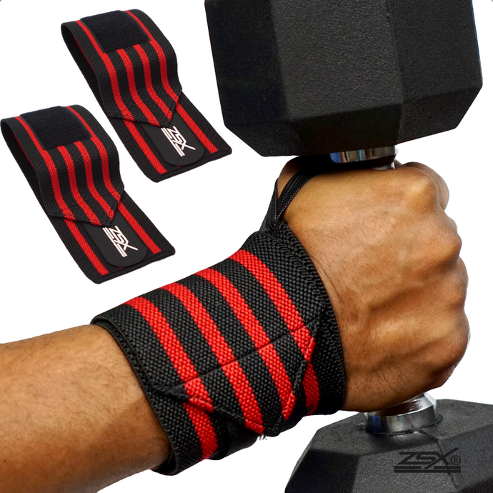 FITNESS WRIST WRAPS (Red)