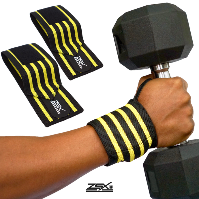 FITNESS WRIST WRAPS (Yellow)