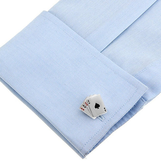 Poker Design Dress Shirt Cufflinks - Mastroianni Fashions