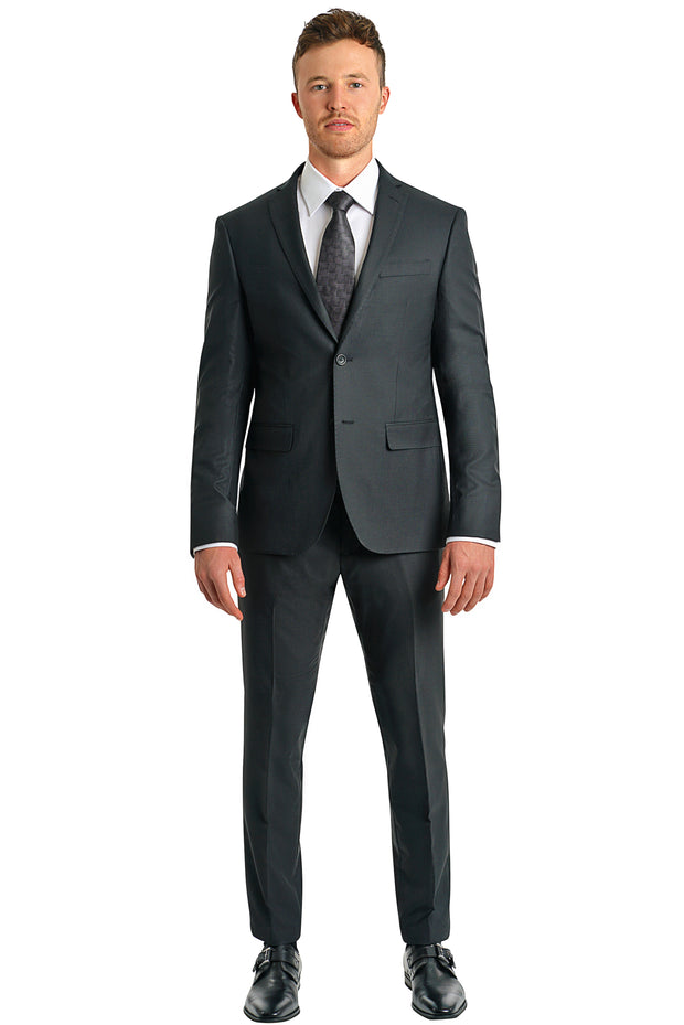 Slim Fit Black Suit - Mastroianni Fashions