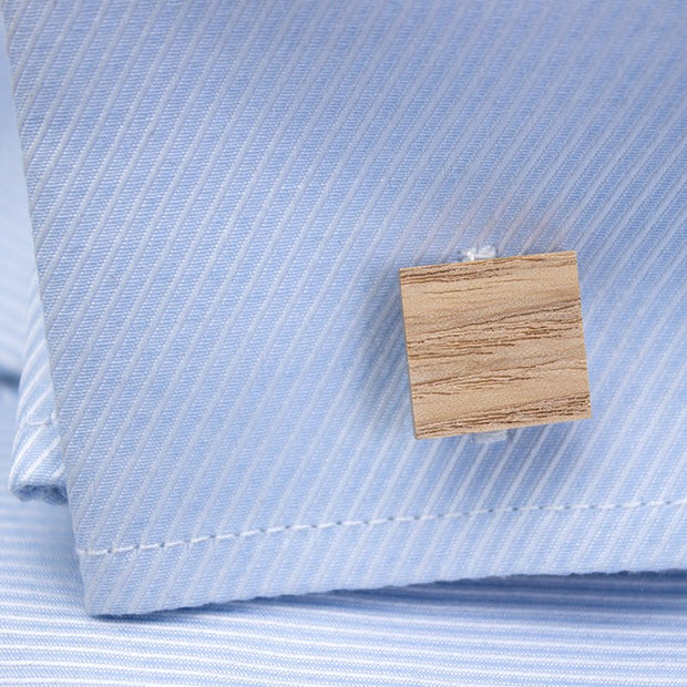 Wooden Cufflinks & Tie Clip Set-Fashion Accessories-Mastroianni Fashions
