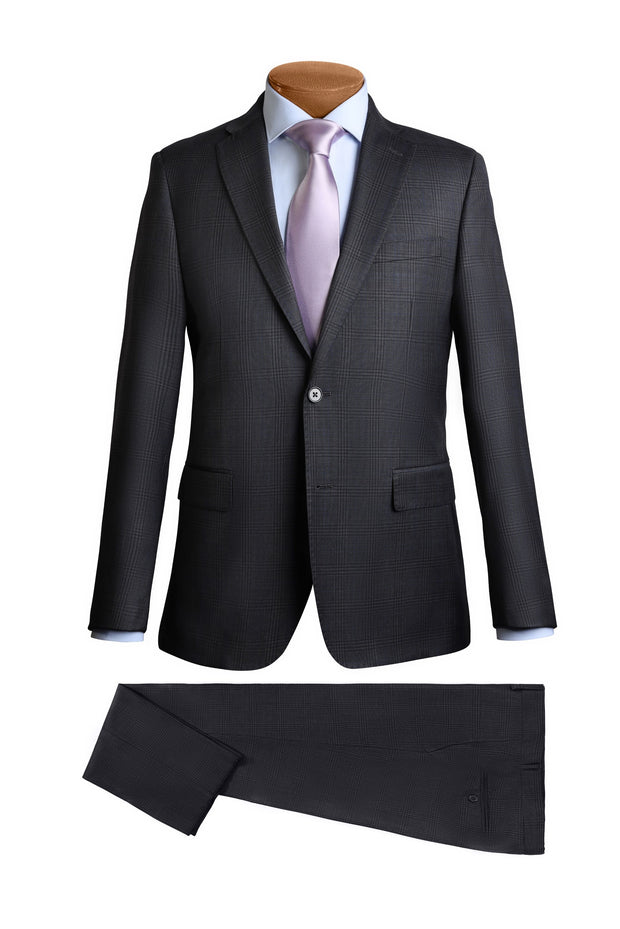 Lazarou Dark Grey Modern Fit Suit