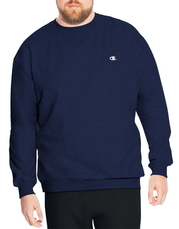 Champion Navy Crew Sweatshirt Fleece CH104 - Mastroianni Fashions