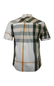 Big and Tall Veno Plaid Shirt Olive V836 - Mastroianni Fashions