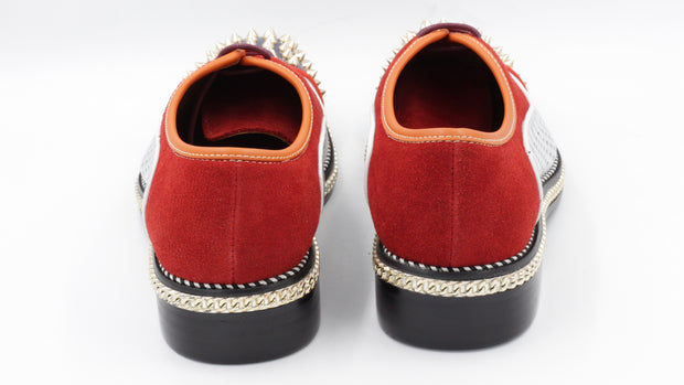 Moretti Black Label Silver/Red Sneaker