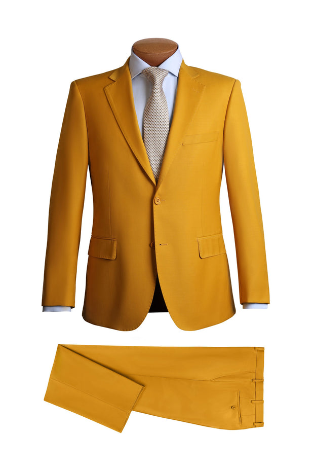 Lazarou Yellow Modern Fit Suit - Mastroianni Fashions