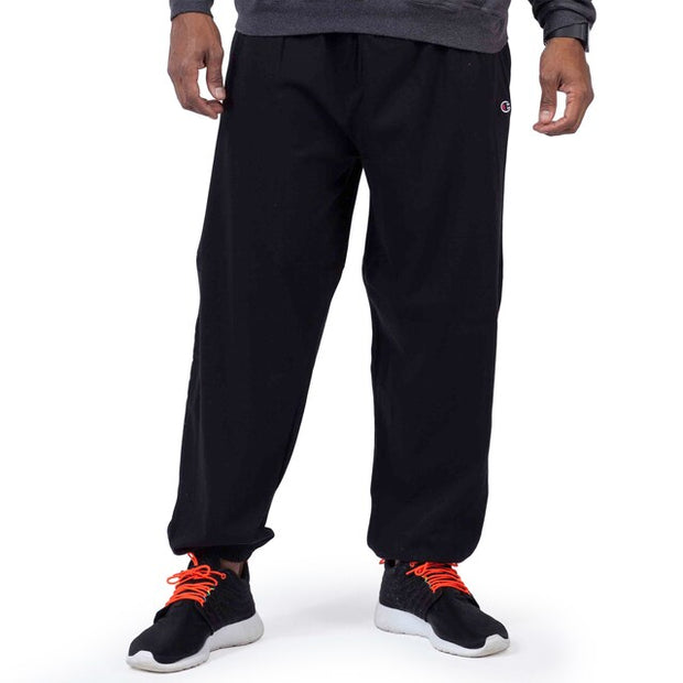 Champion Black Fleece Pant CH106 - Mastroianni Fashions