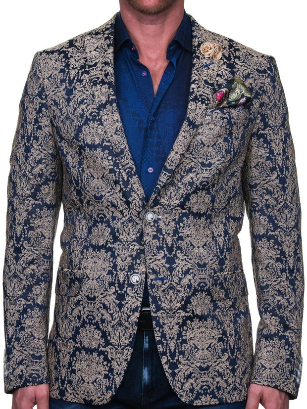 BLUE/GOLD JACKET - Mastroianni Fashions