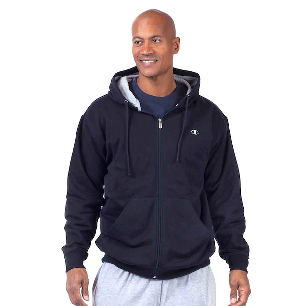 Champion Navy Hoodie Fleece CH105 - Mastroianni Fashions