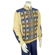 Bagazio half-zip microsuede sweater outfit/elbow patches - Mastroianni Fashions