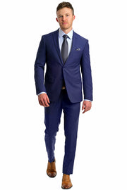 Royal Blue Tech Slim Suit - Mastroianni Fashions