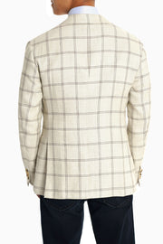 Pal Zileri White Plaid Sport Coat - Mastroianni Fashions