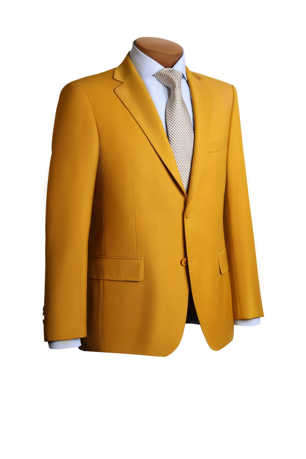 Yellow Modern Fit Suit - Mastroianni Fashions