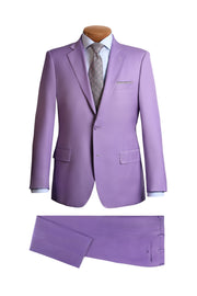 Purple Modern Fit Suit - Mastroianni Fashions