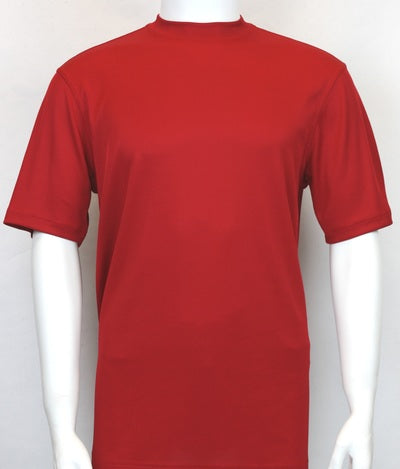 Bassiri S/S Crew Neck Shirt Red 218 - Mastroianni Fashions