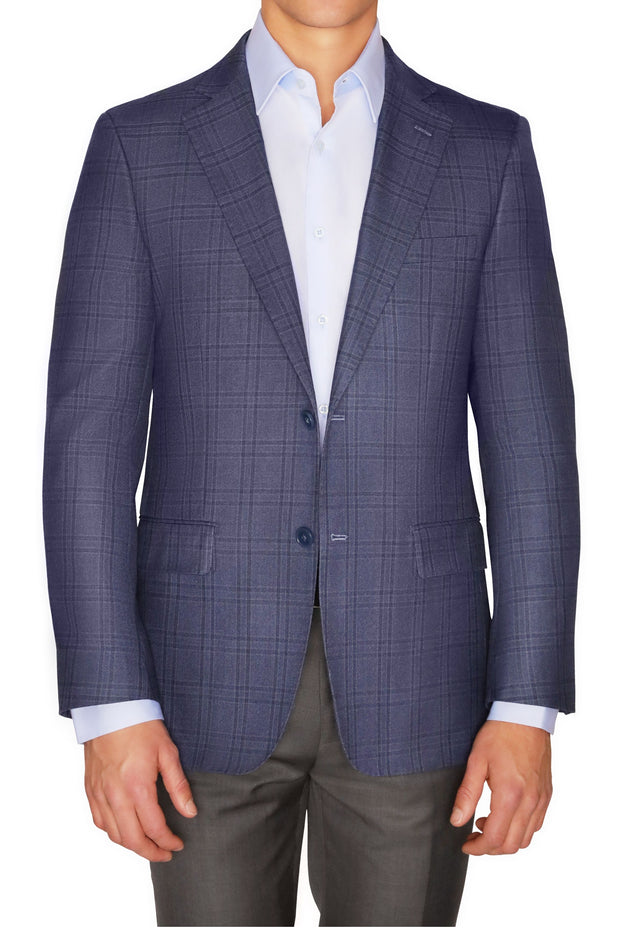 Lazarou Navy Grey Windowpane - Mastroianni Fashions