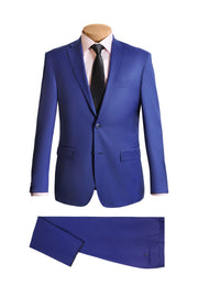 Light Blue Modern Suit - Mastroianni Fashions