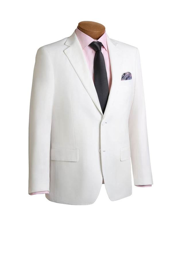 Lazarou White Modern Fit Suit