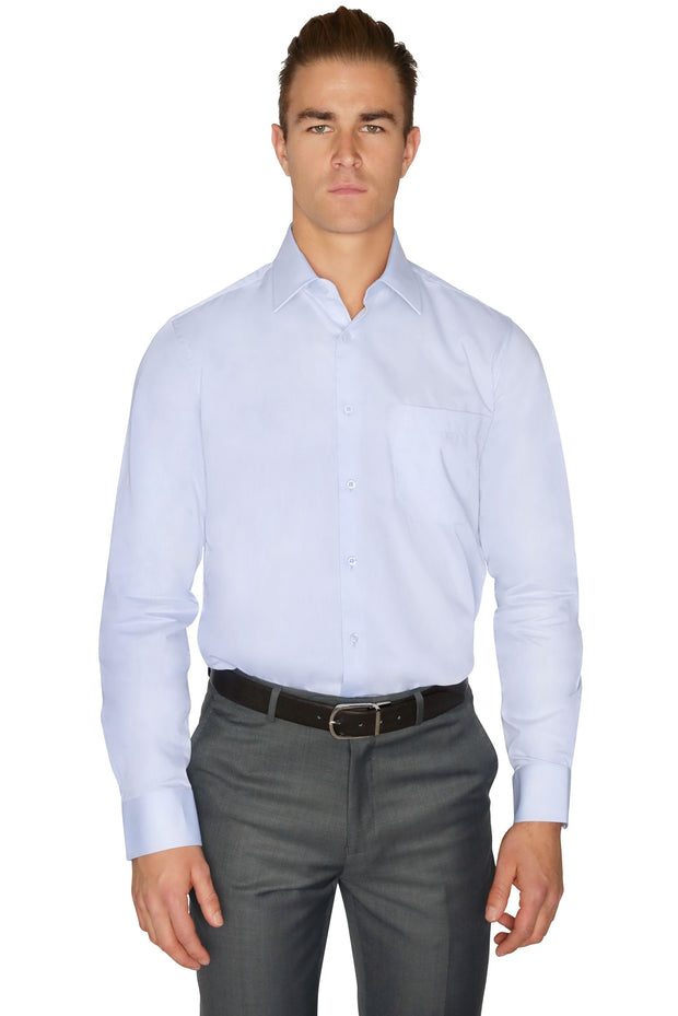 Lazarou Blue Dress Shirt 276 - Mastroianni Fashions