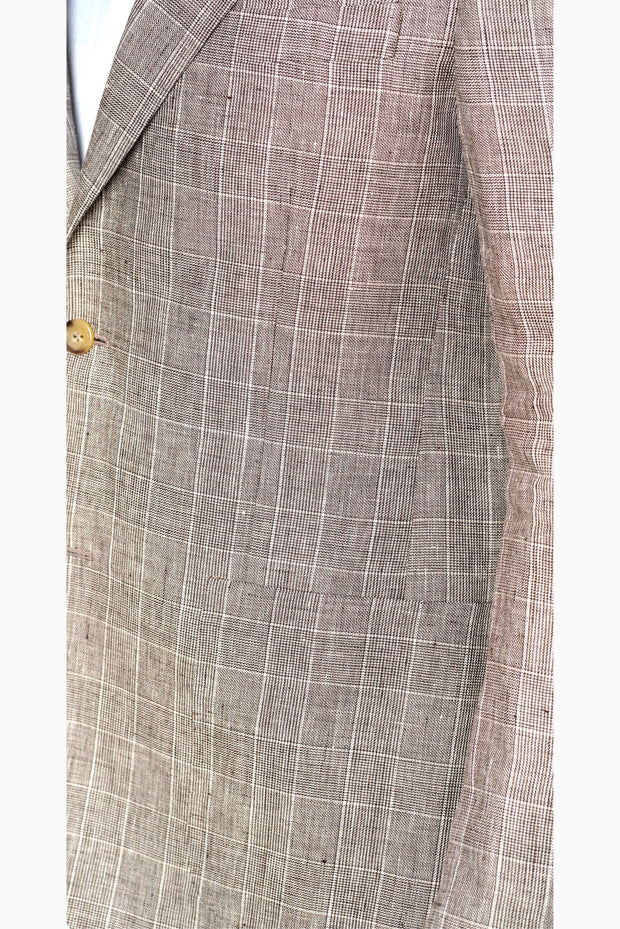 Pal Zileri Plad Grey Summer Jacket - Mastroianni Fashions