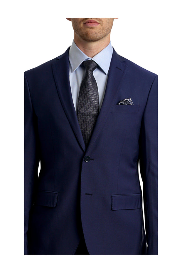 Lazarou Royal Blue Luxury Slim Fit