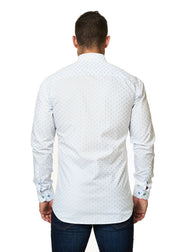 Maceoo Fishbone Light Blue Luxor-SPORT SHIRTS-Mastroianni Fashions