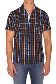 Sambuca Navy/Brown Plaid Shirt