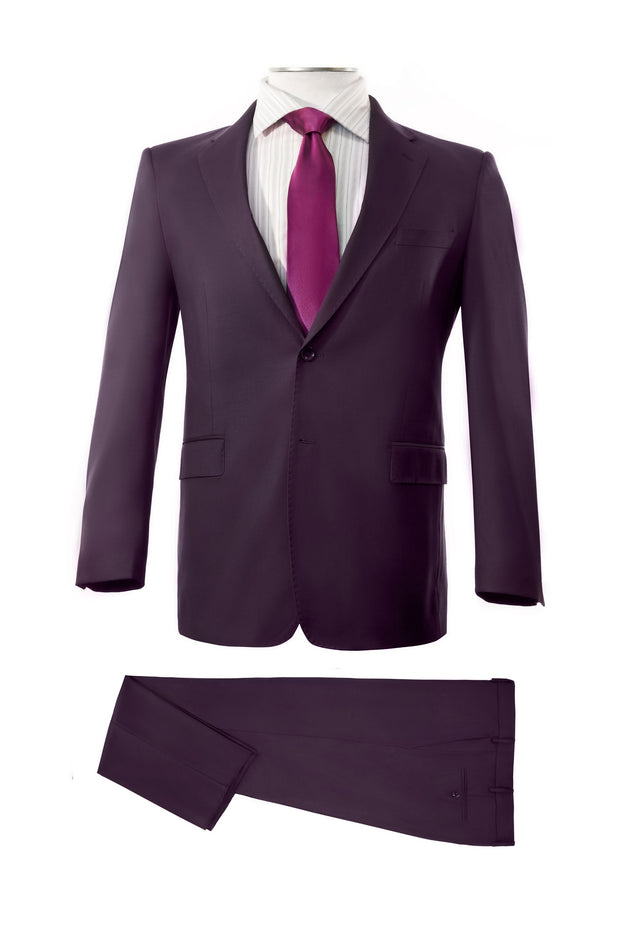 Lazarou Plum Executive Fit Suit - Mastroianni Fashions