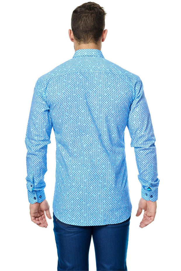 Maceoo Shirt Torquise Dot